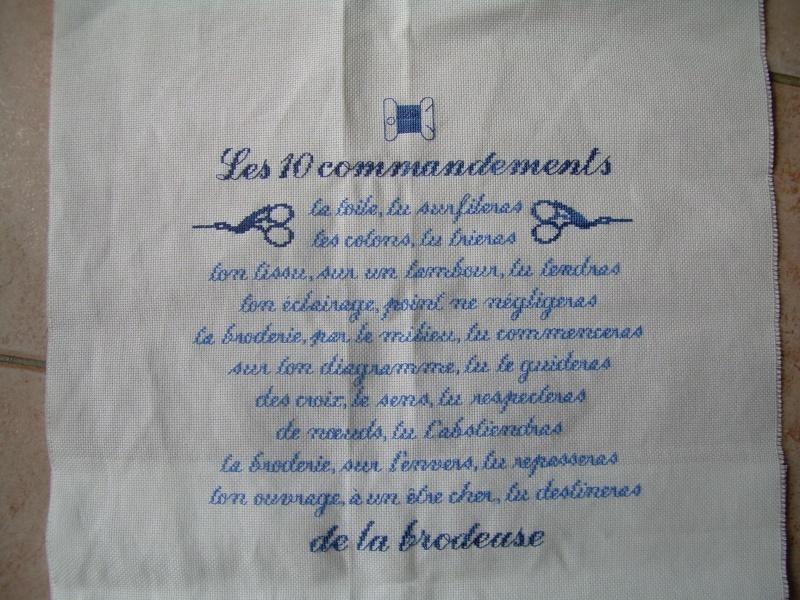 Les 10 commandements de la brodeuse - Page 2 Dscn6425
