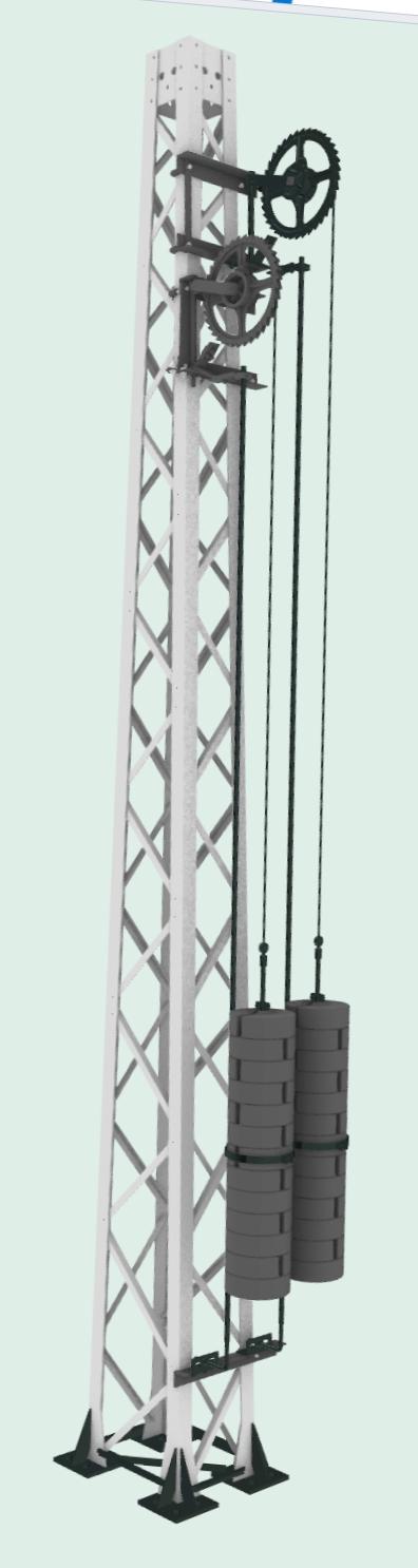 Gitteroberleitungsmast im Maßstab 1:25 Screen12