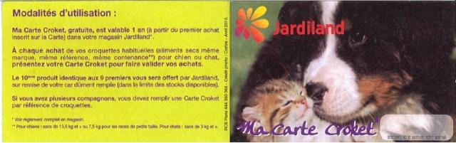 Carte de fidélité Croket à Jardiland Sans_t10