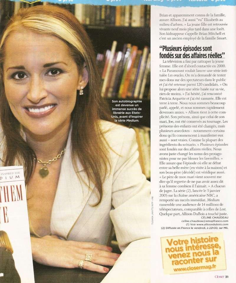 Allison DuBois, médium (article) Numari17