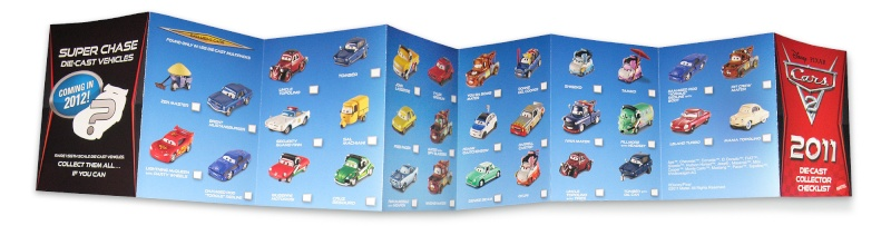 [Cars 2] collector checklist 2011 Cars2a11
