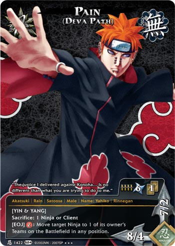 Naruto CCG Intercambio de Cartas N142210