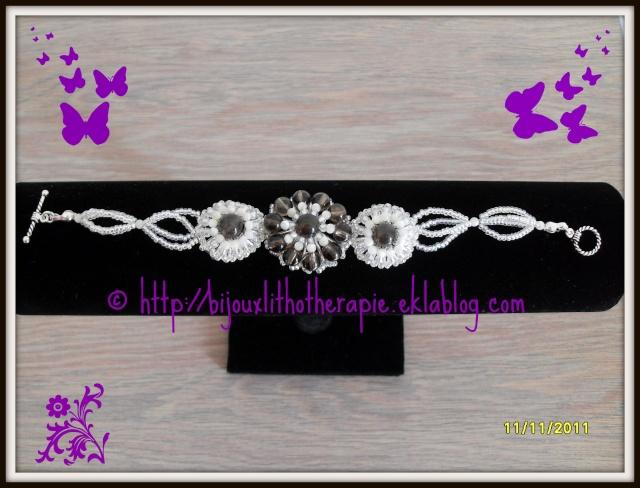 mes créations bijoux lithothérapie Bracel10