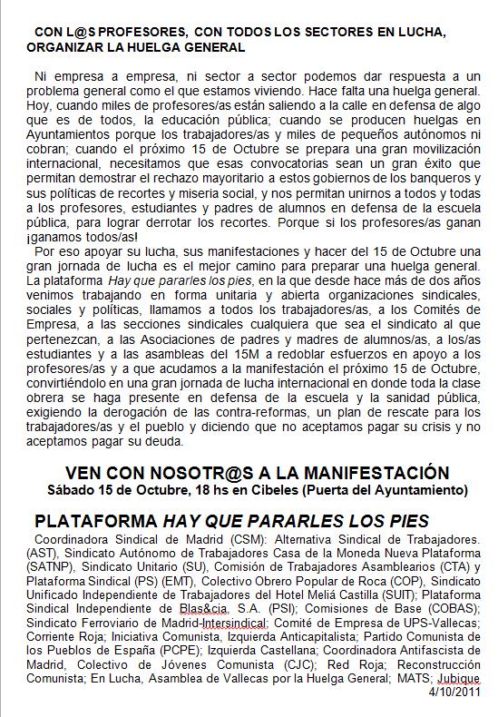 DESPIDOS UPS VALLECAS 06-10-11