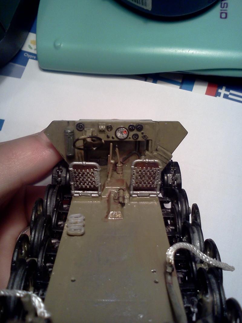 SdkFz 251/16 Ausf C Flammpanzerwagen - montage en cours Img06510