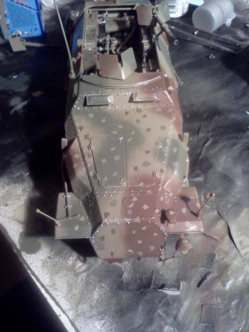 SdkFz 251/16 Ausf C Flammpanzerwagen - montage en cours Img09510