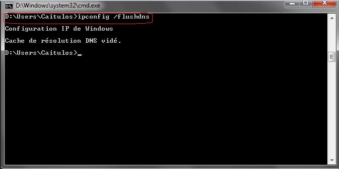 Cache DNS effacer en 10 secs Chrono ! Captdu10