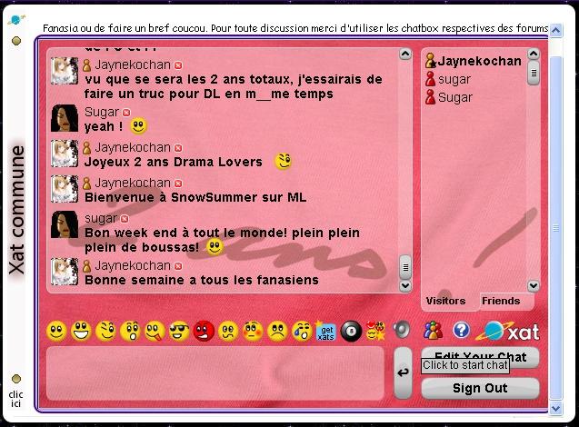 Interface du forum Tablea21
