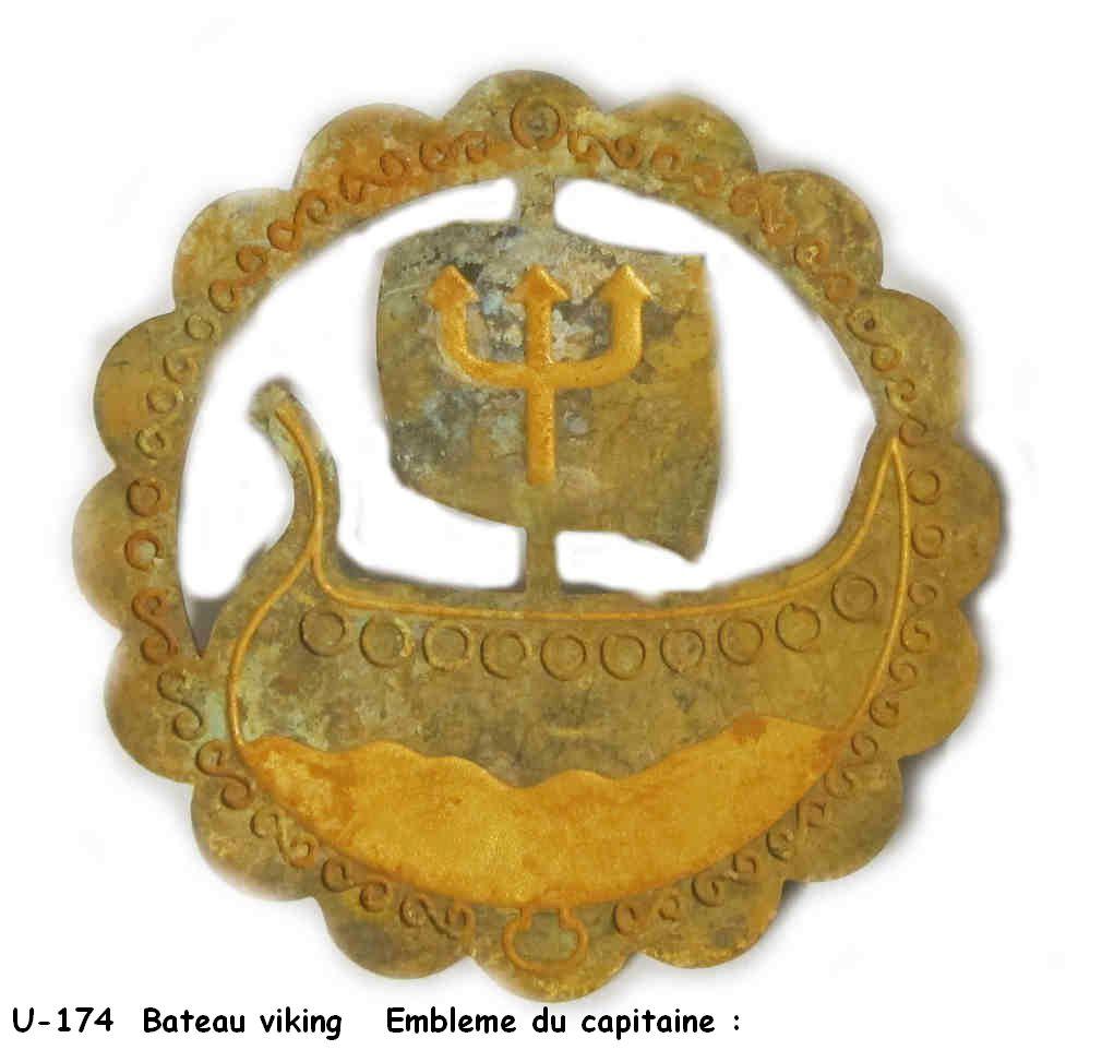 Insigne d'escadrille, de U-boot, de Kommando WWII ? ou jolie broche allemandde  U-174_10