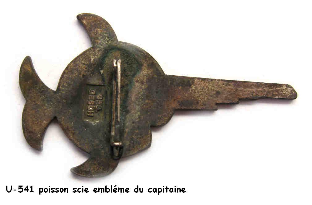 Insigne d'escadrille, de U-boot, de Kommando WWII ? ou jolie broche allemandde  U-541_10