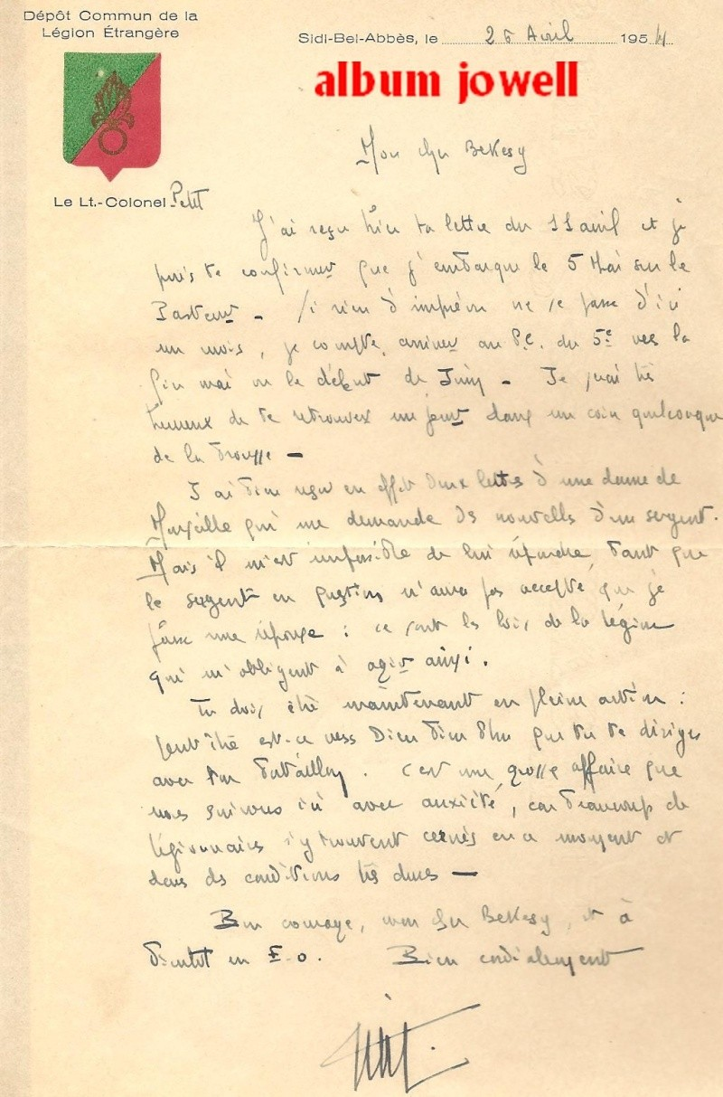 lettres Indochine 1954. 1955 Lettre10