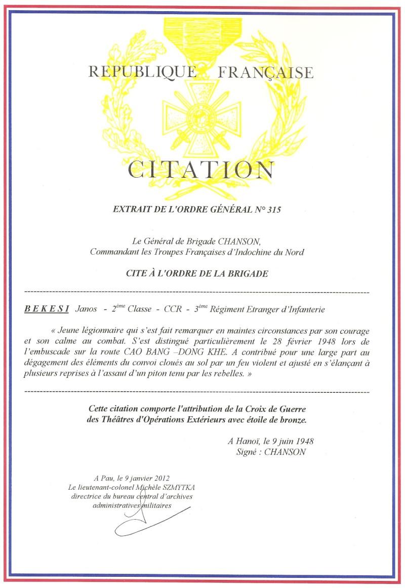 Croix de Guerre TOE Lettre20