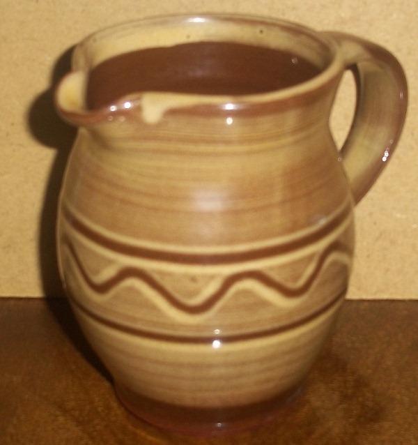 Slipware jug - wg mark (not Matt Grimmit) - W. Goodman, Totnes Copy_o54