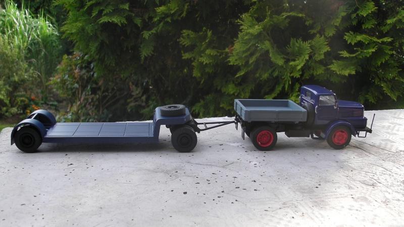 Eigenbau Schwerlastanhänger TL 20 und TL 12 Straßenwalze DW 10 und andere Fahrzeuge in 1 43 Sany0026