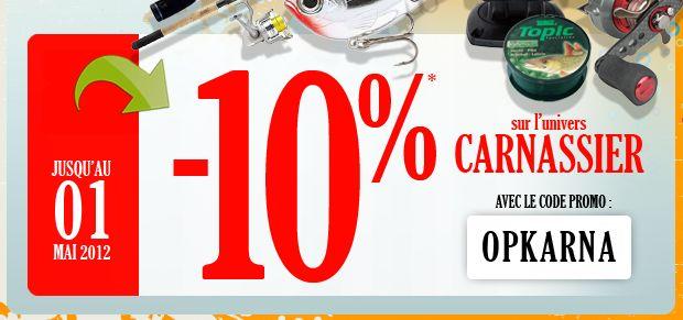 promo sur pecheur.com spéciale carnassiers Promo10