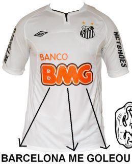 Nova propaganda na camiseta do Santos Barcel10