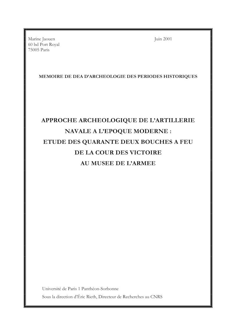 Canon-obusier à la Paixhan, modèle  1842, no 1 - Page 2 Cover10