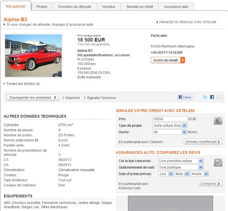 ALPINA B3 E30 cabrio : c'est beau  Screen39