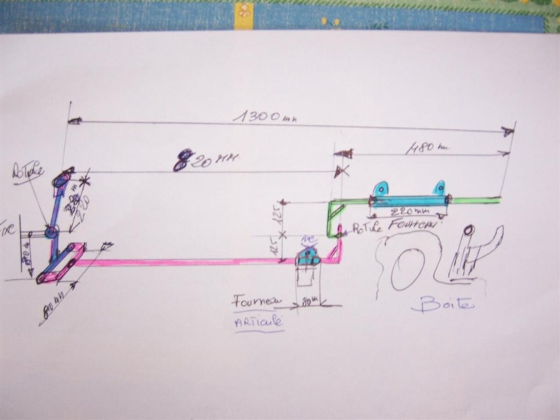 TIMONERIE de boite vitesse F16 100_3222