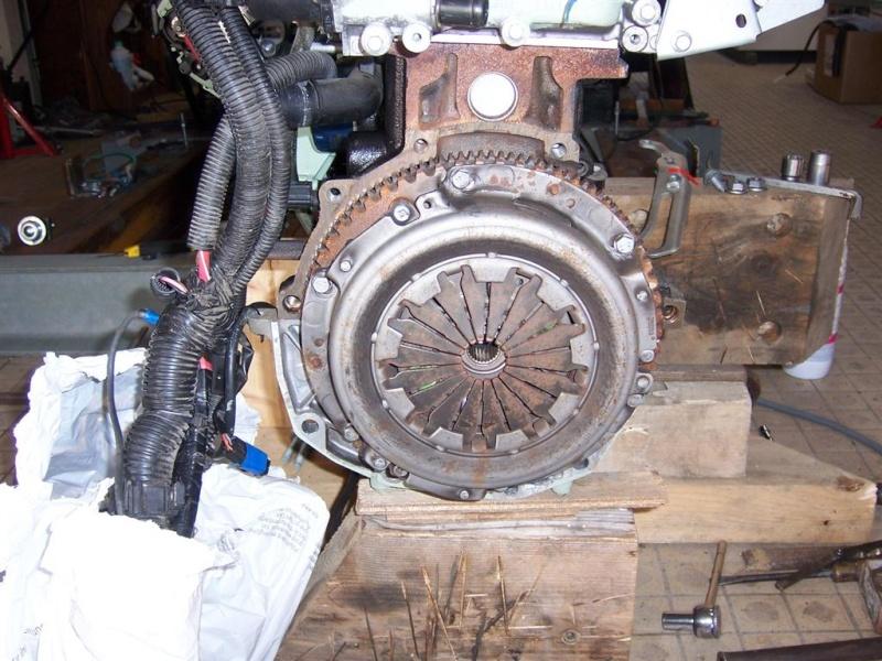 DEPOSE BOITE DE VITESSE JH3 F16 sur moteur à terre 100_4322