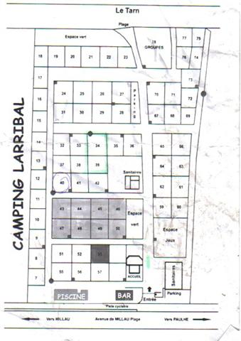 [Millau] Camping LARRIBAL*** Plan10