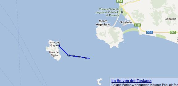 Bateau de croisière Costa coule en Toscane (Italie) Costam10