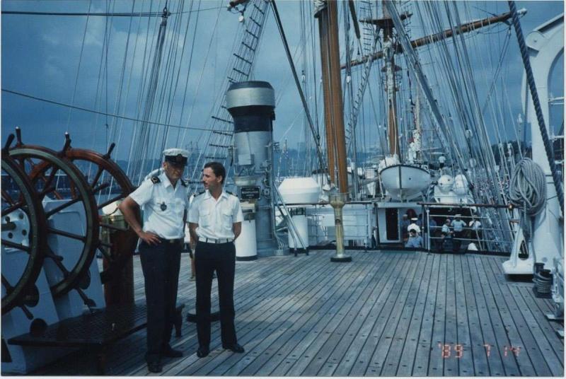 Mon embarquement à bord du Sagrès en 1986 Desbui10