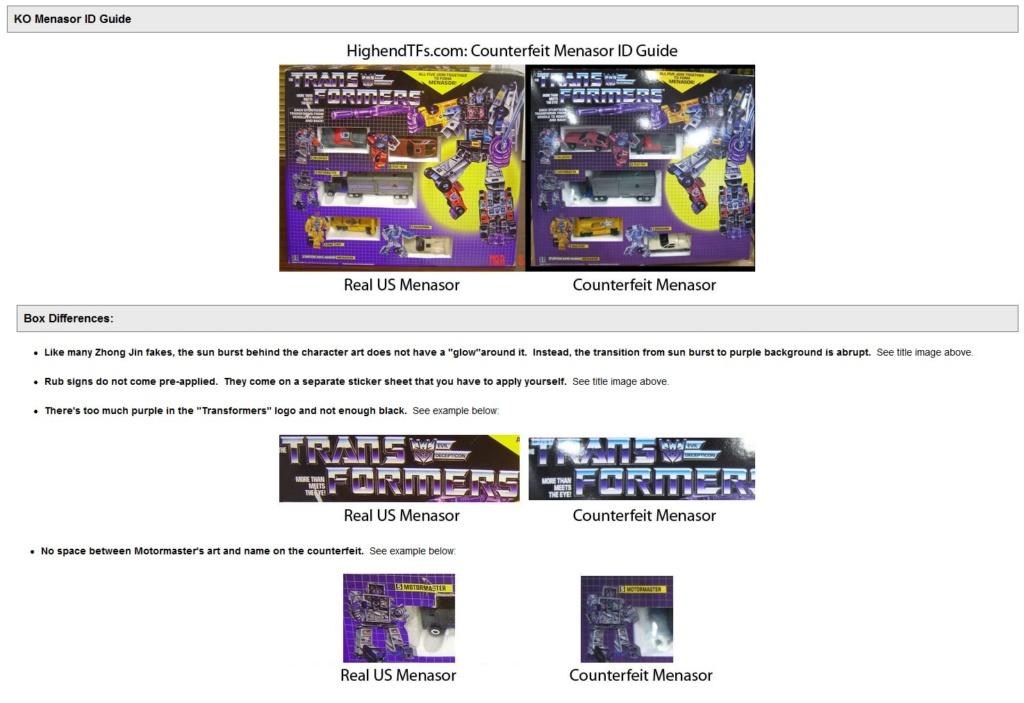 Transformers G1 KO, comment ne pas se faire avoir Menaso10