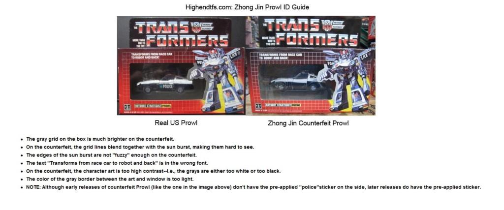 Transformers G1 KO, comment ne pas se faire avoir Prowl10