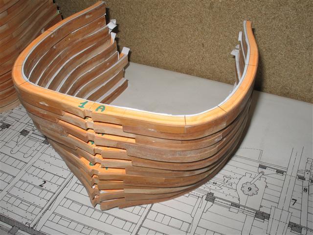 La Belle 1684 scala 1/24  piani ANCRE cantiere di grisuzone  Img_5310