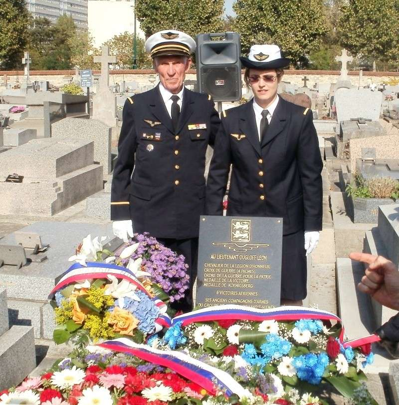 Nouvelle plaque sur la sépulture de Léon Ougloff Asnier16