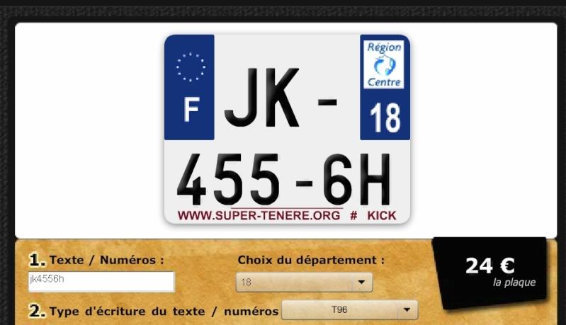 plaque immatriculation WWW.SUPER-TENERE.ORG Plaque11