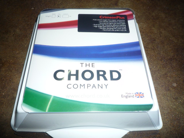 Chord Company Crimson Plus Interconnect Cable (New)SOLD P1030156