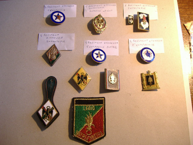 Ma Petite Collection d'Insignes LEGION Lot_in10