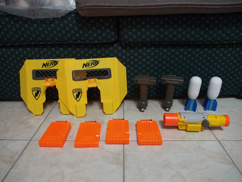 Nerf guns and parts for sale P7080312