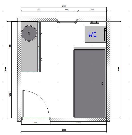 deux salles de bain à refaire, en mosaïque blanche, HELP please! Plan_210