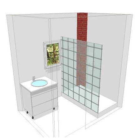 deux salles de bain à refaire, en mosaïque blanche, HELP please! Plan_310