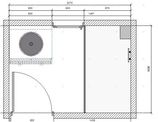 deux salles de bain à refaire, en mosaïque blanche, HELP please! Plan_p10