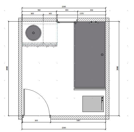 deux salles de bain à refaire, en mosaïque blanche, HELP please! Plan_p11