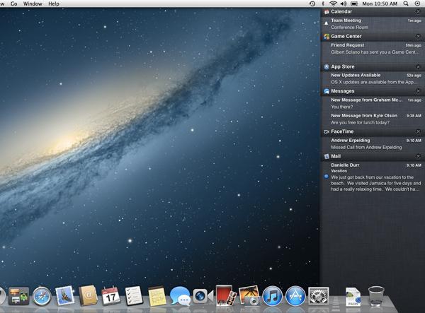 [MAC] Nuovo aggiornamento OS X 10.8 Mountain Lion: Notification Center, iCloud, AirPlay Mirroring e altri dettagli  Centro10