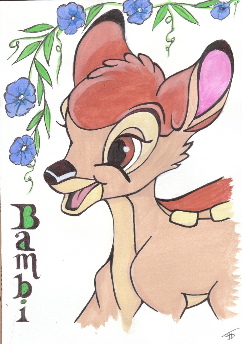 mes dessin Disney! - Page 2 Bambi_12
