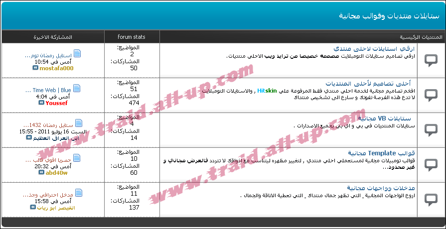 استايل تومبيلات ستايل ترايد ويب العربية الذي اشتاق إليه الجميع الان مجاني للجميع  Ct10