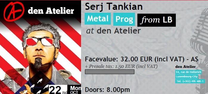 Serj en concert au Zénith de Paris - Page 2 Ticket10