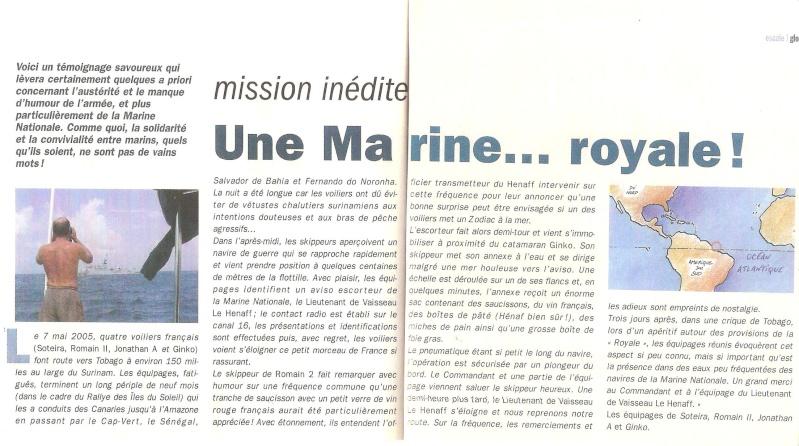 LIEUTENANT DE VAISSEAU LE HENAFF (AVISO) - Page 4 Remerc11