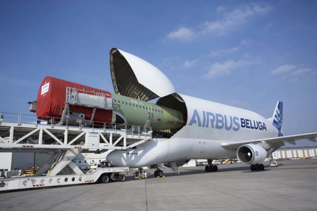 Airbus a 50 ans : defilé aujourdhui a Blagnac Beluga10