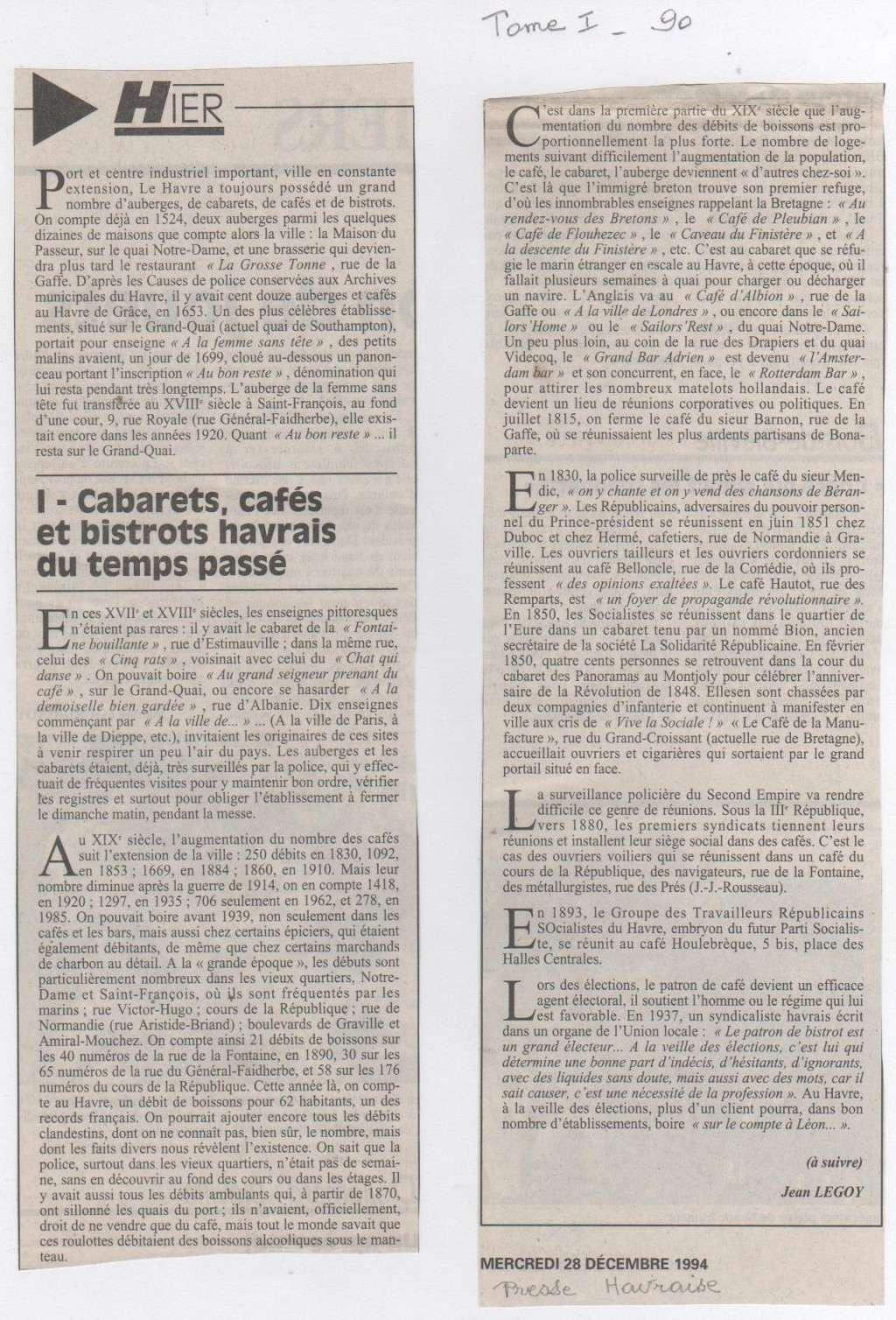 Hier, Le Havre par Jean LEGOY - Page 3 Cabare10