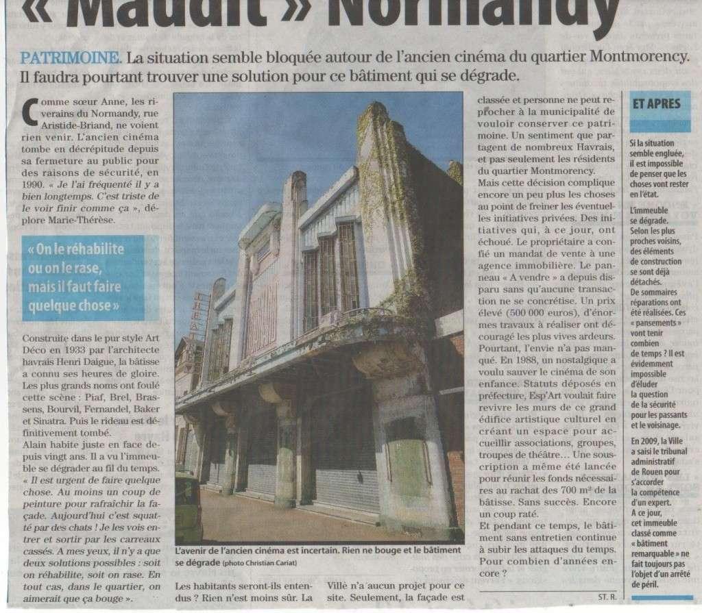 """Cinéma """" Le Normandy """" au Havre : Projet de Reprise Cinama11"""