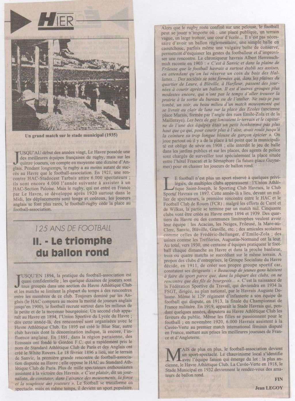 Hier, Le Havre par Jean LEGOY - Page 3 Footba11