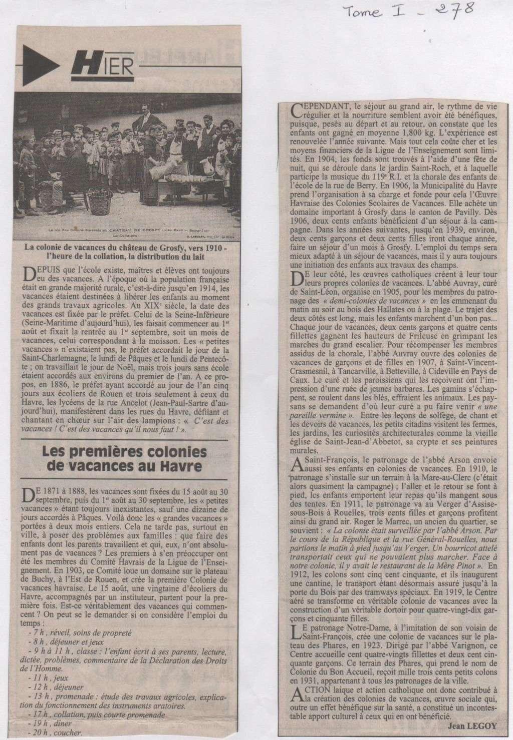 bléville - Hier, Le Havre par Jean LEGOY - Page 4 Les_co11