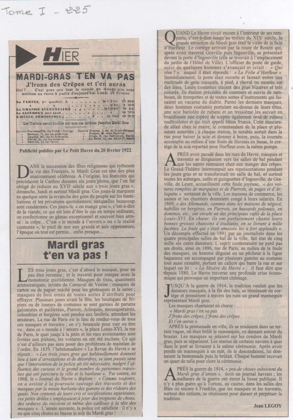 Hier, Le Havre par Jean LEGOY - Page 3 Mardi_10